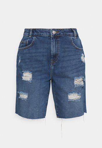 NMLUCKY LONGBOARDER SHORTS - Shorts di jeans - medium blue denim