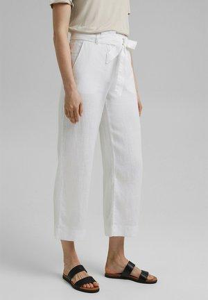 PANT WIDE LEG - Pantalon classique - white