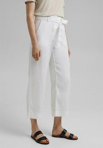 PANT WIDE LEG - Trousers - white