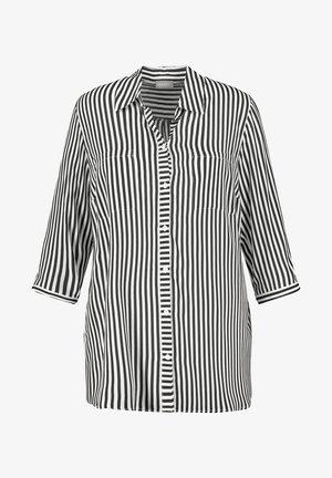 MIT STREIFEN-DESSIN - Overhemdblouse - black gemustert