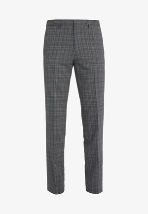 HESTEN - Spodnie garniturowe - open grey