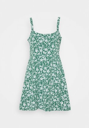 TURNER STRAPPY MINI DRESS - Jerseyjurk - heritage green
