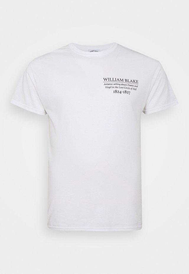 WILLIAM BLAKE ART PRINT TEE - Print T-shirt - white