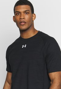 Under Armour - CHARGED COTTON SS - T-shirts basic - black/white