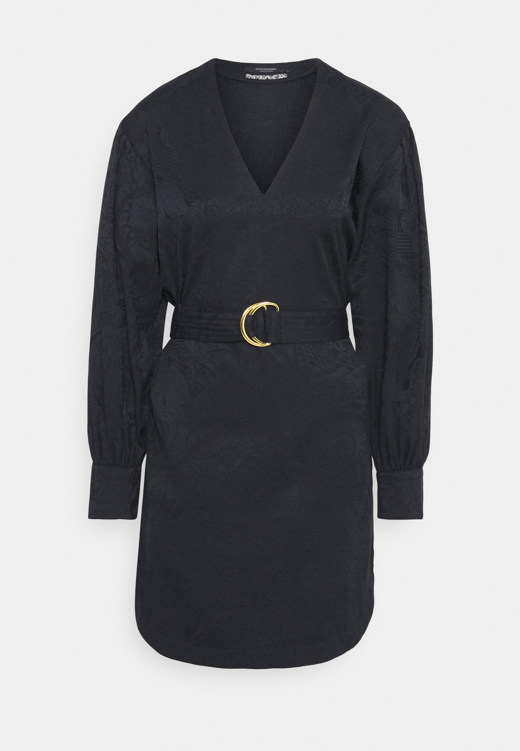 Women LONG SLEEVE DRESS WITH V NECK - Day dress