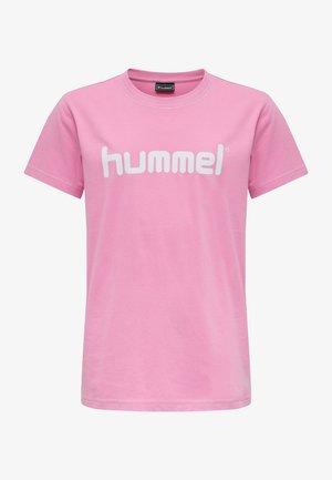 HMLGO KIDS COTTON LOGO S/S - Print T-shirt - pink