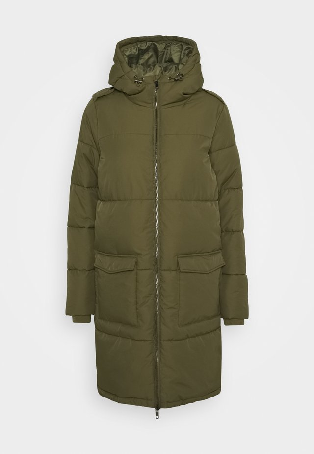 OBJZHANNA LONG JACKET  - Vinterkåpe / -frakk - burnt olive