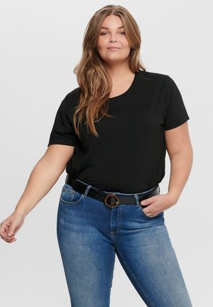 CURVY - Basic T-shirt - black