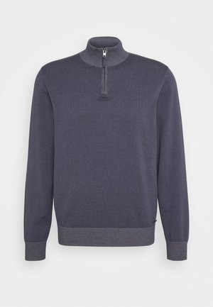 ALPHA PLAITED ZIP - Sweter - mid gray heather