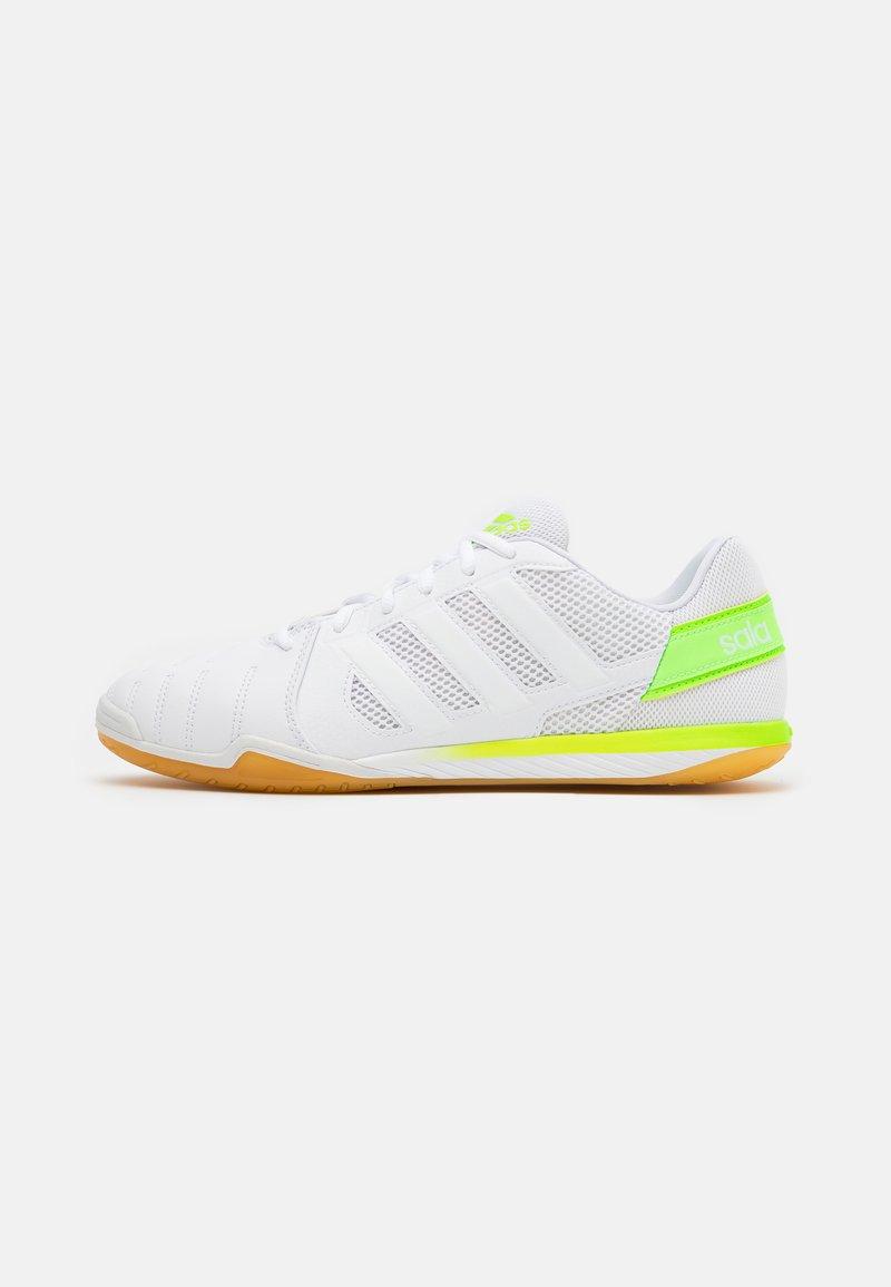 adidas Performance - TOP SALA - Indoor football boots - footwear white/signal green