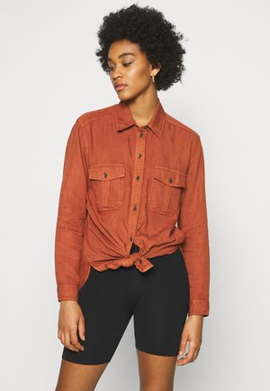 CORE MILITARY - Button-down blouse - rust