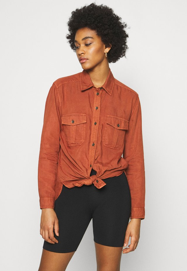 CORE MILITARY SHIRT - Blouse - rust