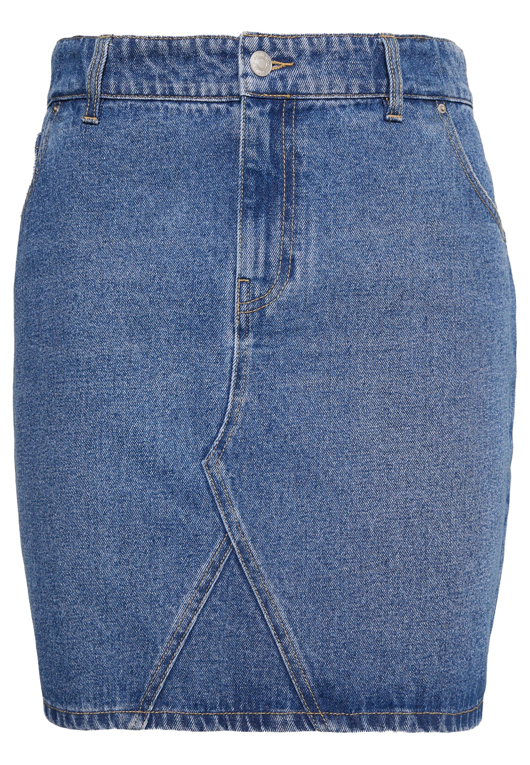 Dorothy Perkins Damen Indigo Denim Midi Skirt Rock