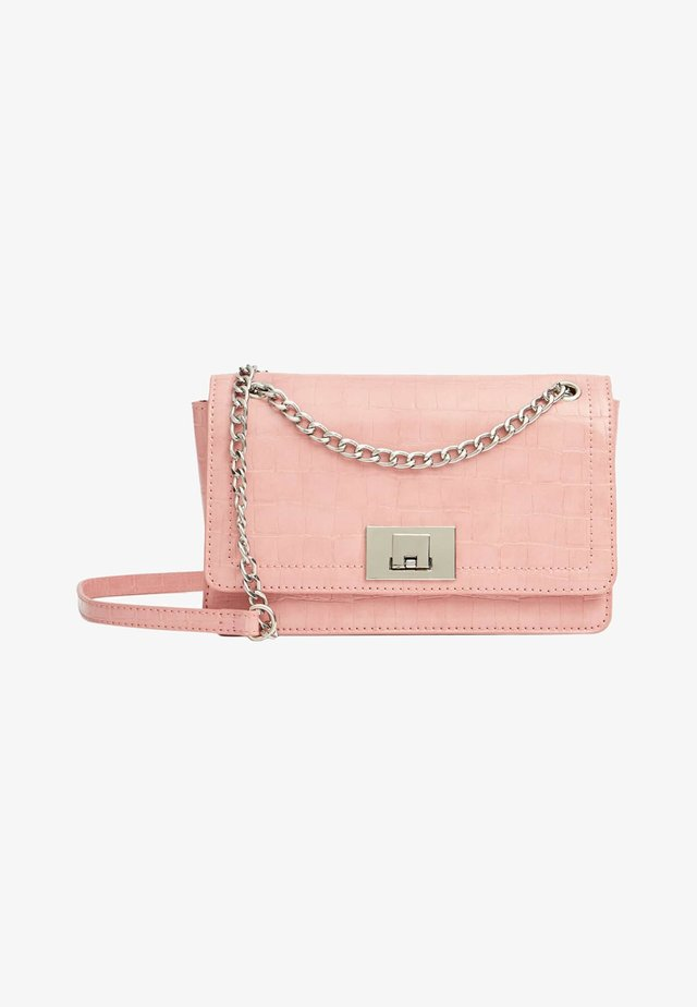 Sac bandoulière - mottled light pink