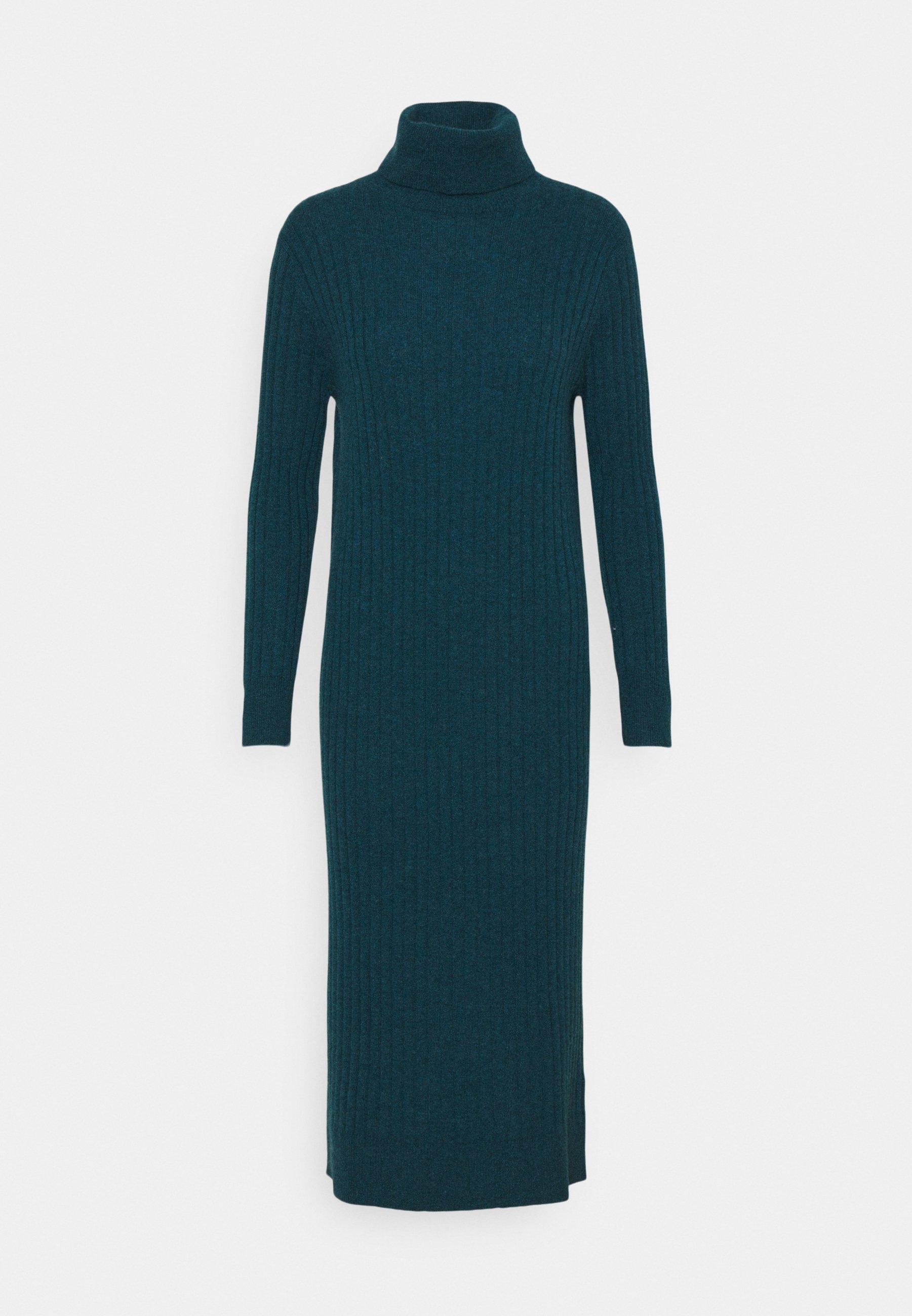 Women TURTLENECK MAXI DRESS - Jumper dress