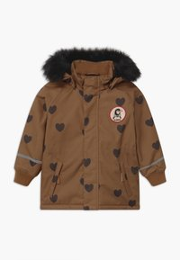 Mini Rodini - HEARTS - Winter coat - brown - 0