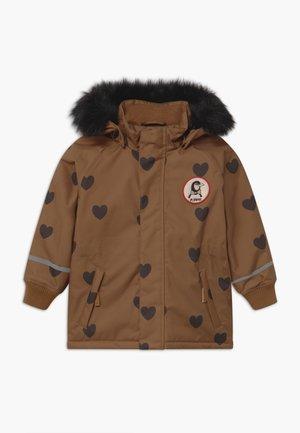 HEARTS - Winter coat - brown