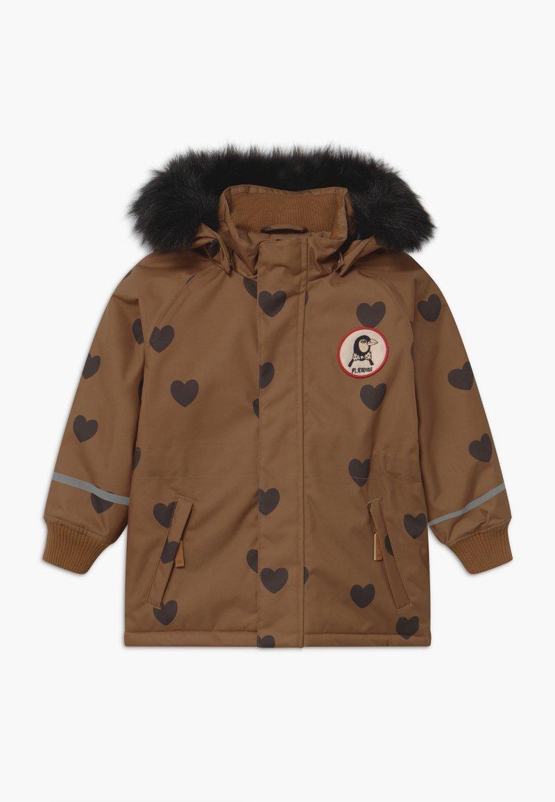 Mini Rodini - HEARTS - Winter coat - brown