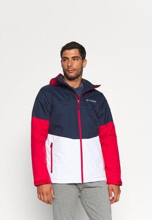 POINT PARK™ INSULATED JACKET - Vodotěsná bunda - collegiate navy/white/mountain red