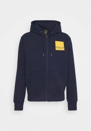 TECH - veste en sweat zippée - cruise navy