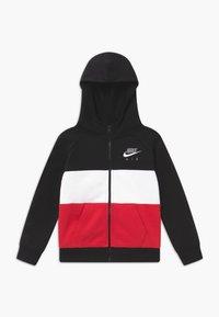 Nike Sportswear - Zip-up hoodie - black/university red - 0