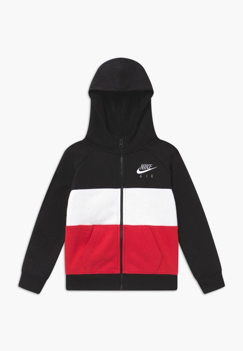 Nike Sportswear - Zip-up hoodie - black/university red