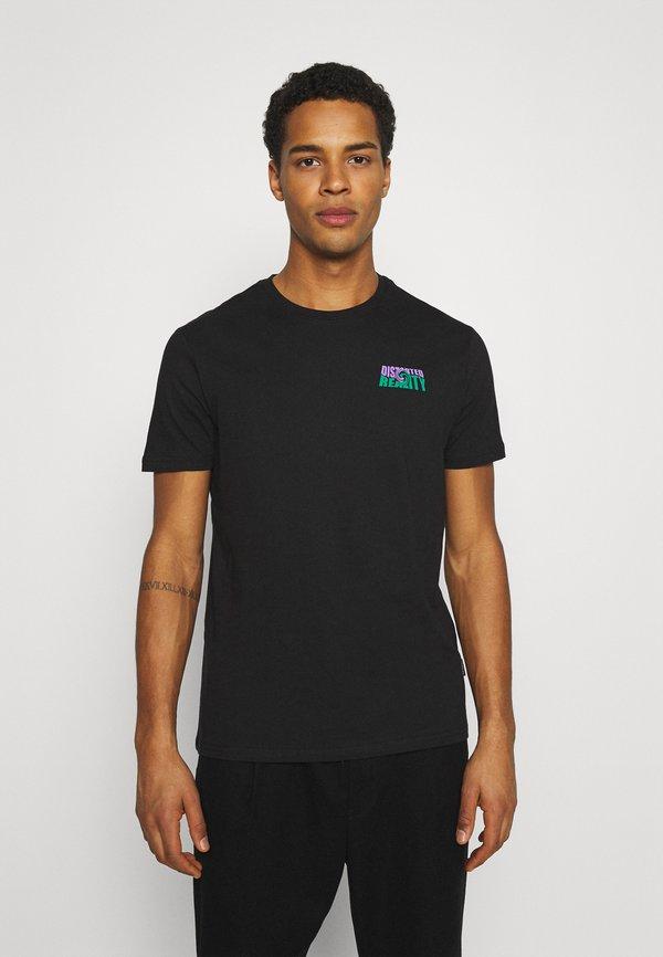 YOURTURN UNISEX - T-shirt z nadrukiem - black/czarny Odzież Męska XGYH