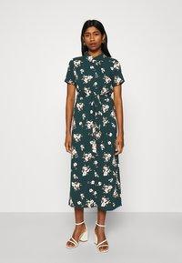 Vero Moda - VMSIMPLY EASY LONG SHIRT DRESS - Shirt dress - ponderosa pine - 0