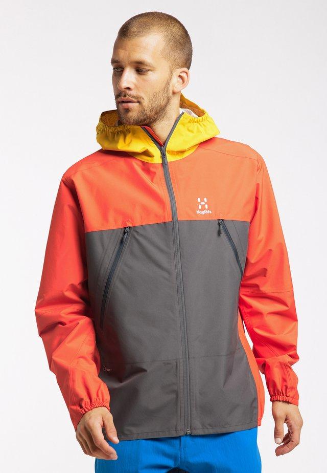 SPIRA  - Hardshell jacket - habanero/magnetite