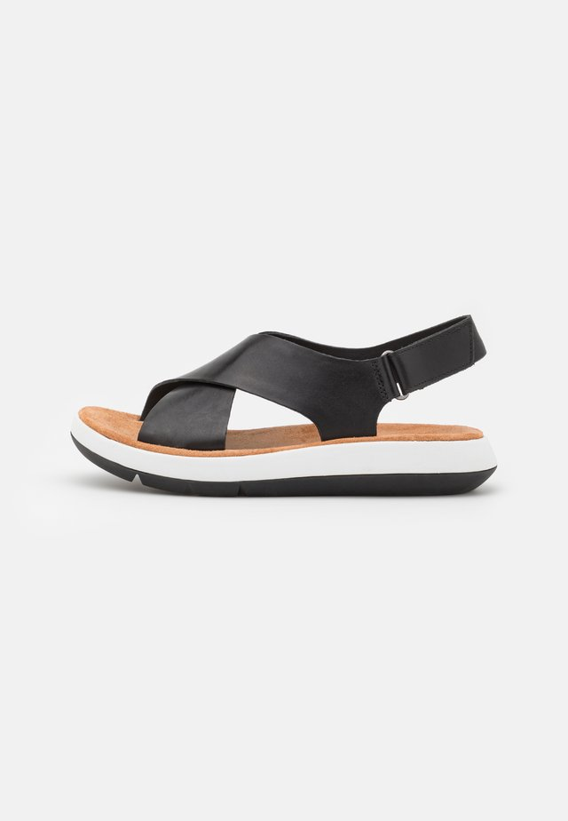 JEMSA CROSS - Platform sandals - black