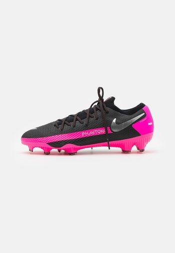PHANTOM GT PRO FG - Moulded stud football boots - black/metallic silver/pink blast