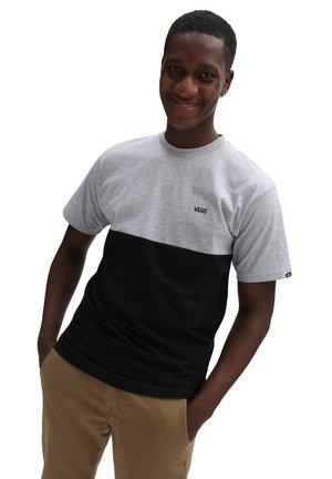 MN COLORBLOCK - T-shirt print - athletic heather/black