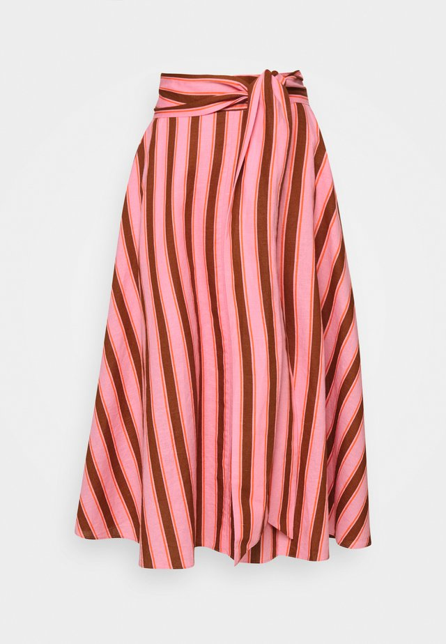 CALAIS STRIPE SKIRT - Gonna lunga - rosy carnation