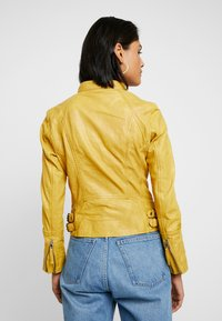 Gipsy - NOHLA - Leather jacket - yellow - 4