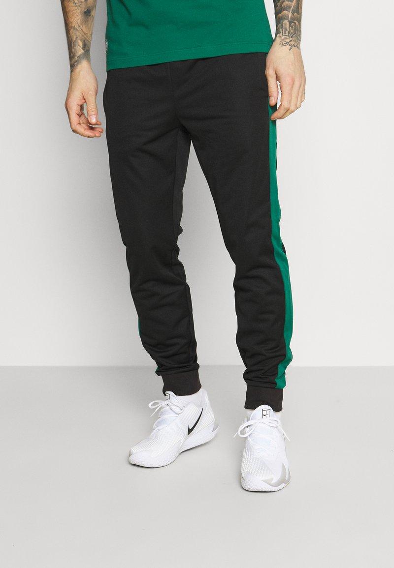 Lacoste Sport - TRACK PANT - Tracksuit bottoms - black/bottle green