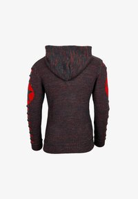 Rusty Neal - Hoodie - anthrazit / rot - 1