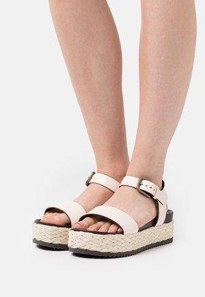 ILARIA  - Platform sandals - offwhite