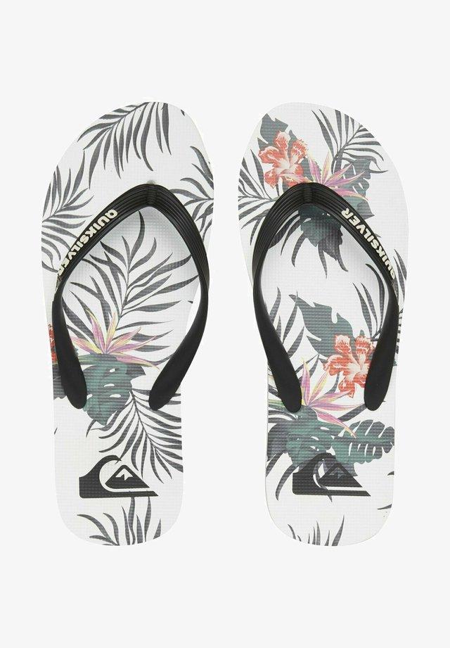 MOLOKAI EVERYDAY PARADISE  - T-bar sandals - black/white/black