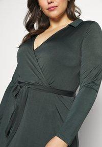 Anna Field Curvy - Jersey dress - dark green - 5
