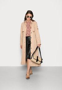 Emily van den Bergh - BLOUSE - Button-down blouse - orange lilac brown - 1