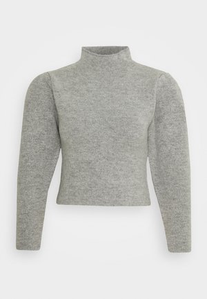 HIGH NECK PLEAT SLEEVE - Jumper - grey