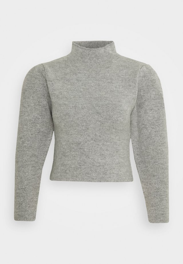 HIGH NECK PLEAT SLEEVE - Pullover - grey