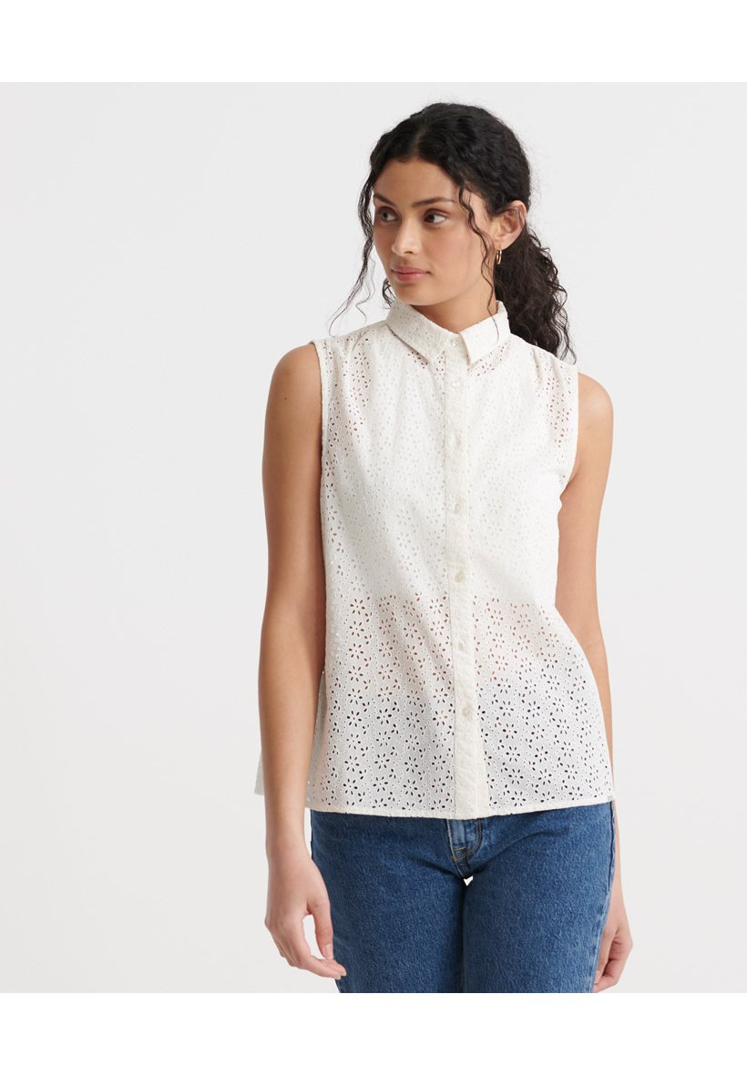 Women SUPERDRY TILLY BRODERIE SHIRT - Button-down blouse