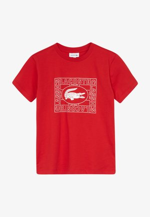 TEE - T-shirt imprimé - rouge