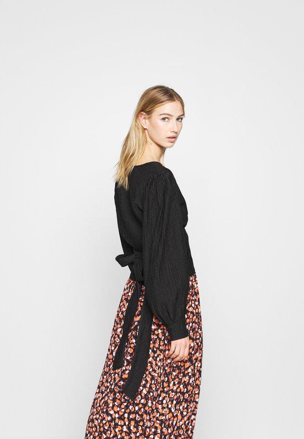 Moves PATTI - Bluzka z długim rękawem - black/czarny CPZM