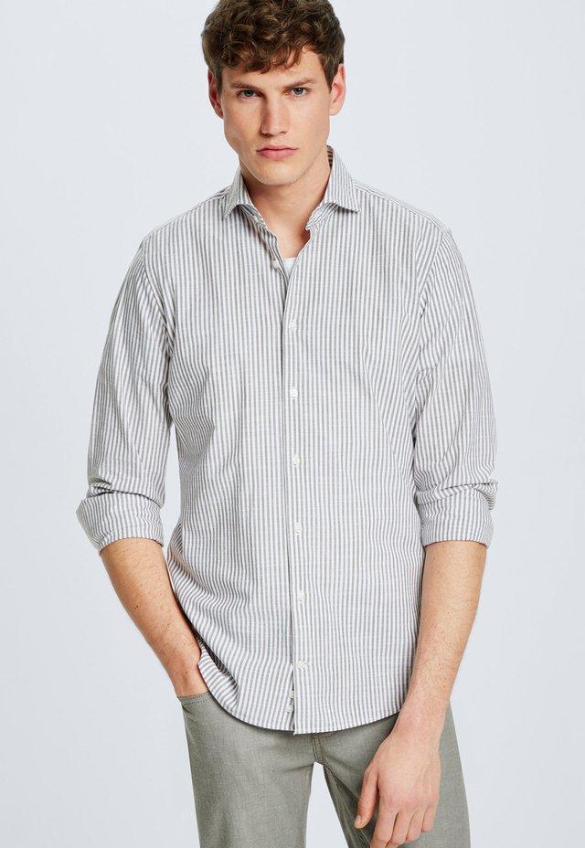 STRELLSON HEMD SERENO - Shirt - weiss/braun gestreift