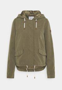 ONLY Tall - ONLSKYLAR HOOD JACKET - Summer jacket - kalamata - 0