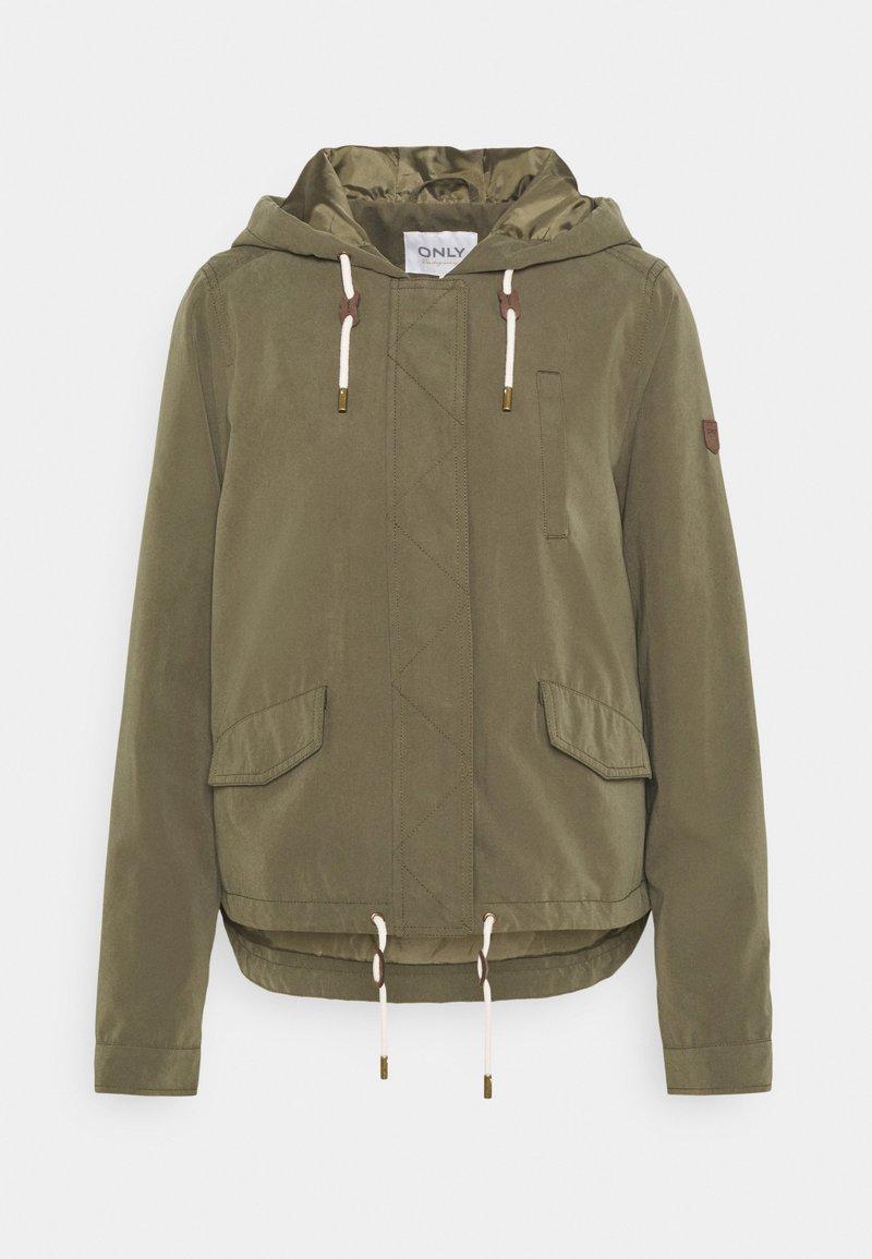 ONLY Tall - ONLSKYLAR HOOD JACKET - Summer jacket - kalamata
