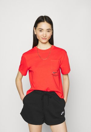 T-shirt print - light crimson/black