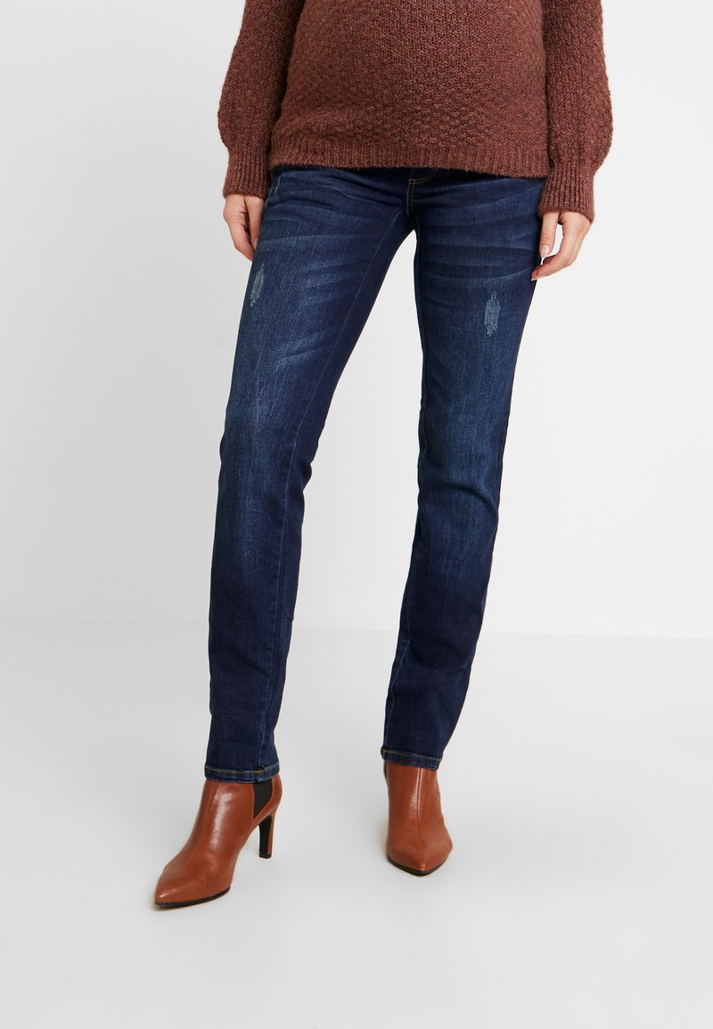 MAMALICIOUS - MLUFA - Vaqueros rectos - dark blue denim